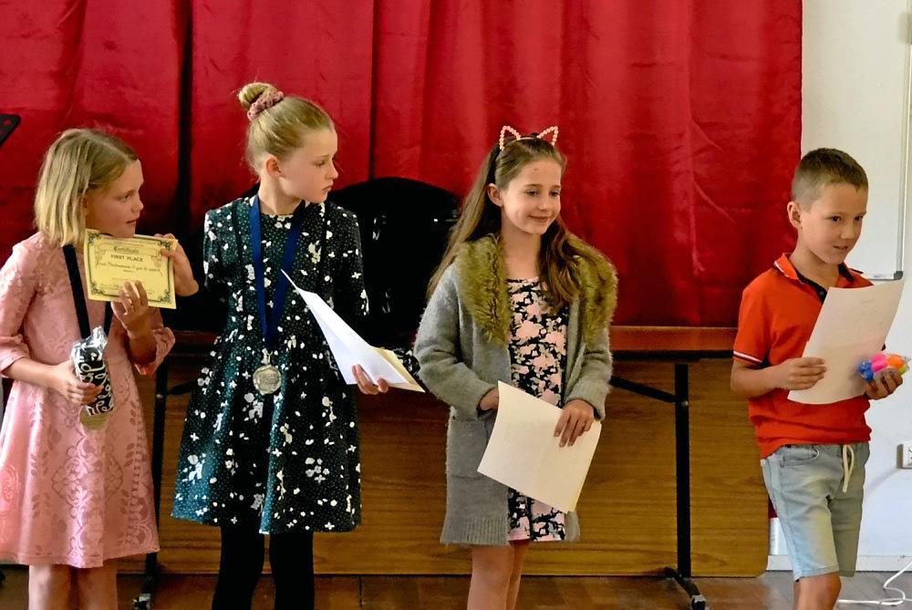 LITTLE SINGERS: Somerset & Lockyer Region Music Awards Grace Jardine, Amelia Roughan ; Jessica Beasley and Tyler Elphinstone