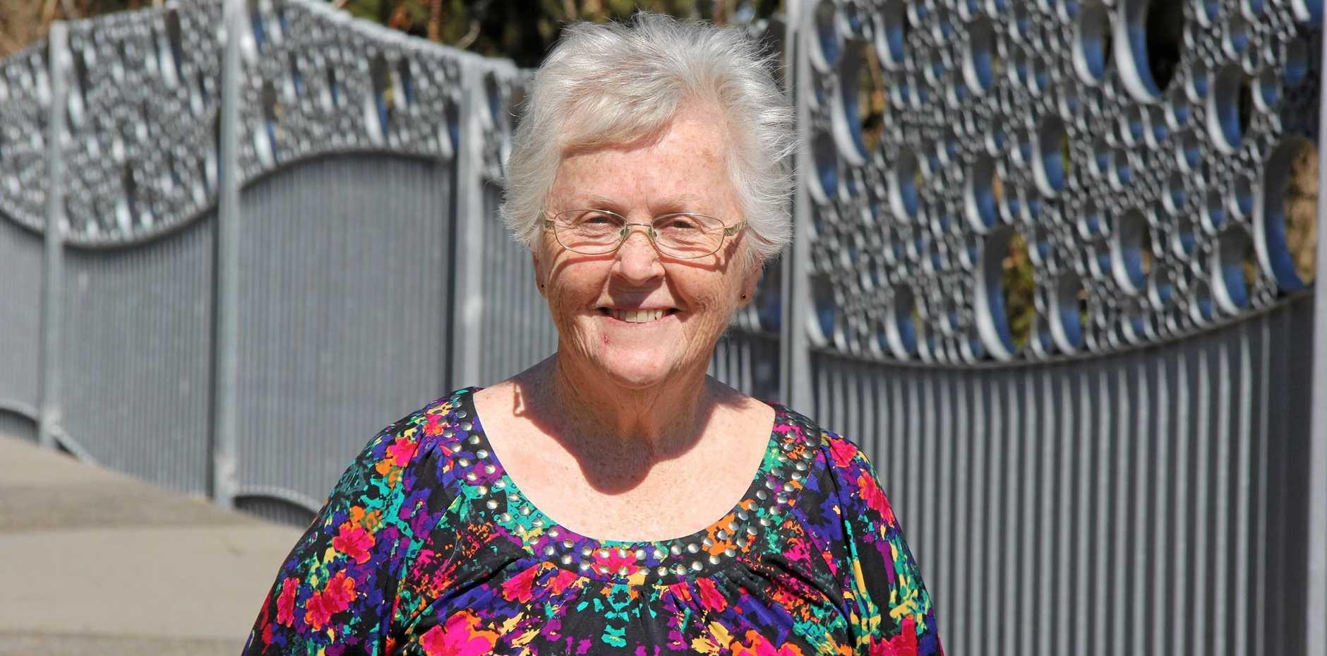VINDICATED: Carol Toms at the dedication ceremony for the Toogoolawah pedestrian bridge named in her honour.
