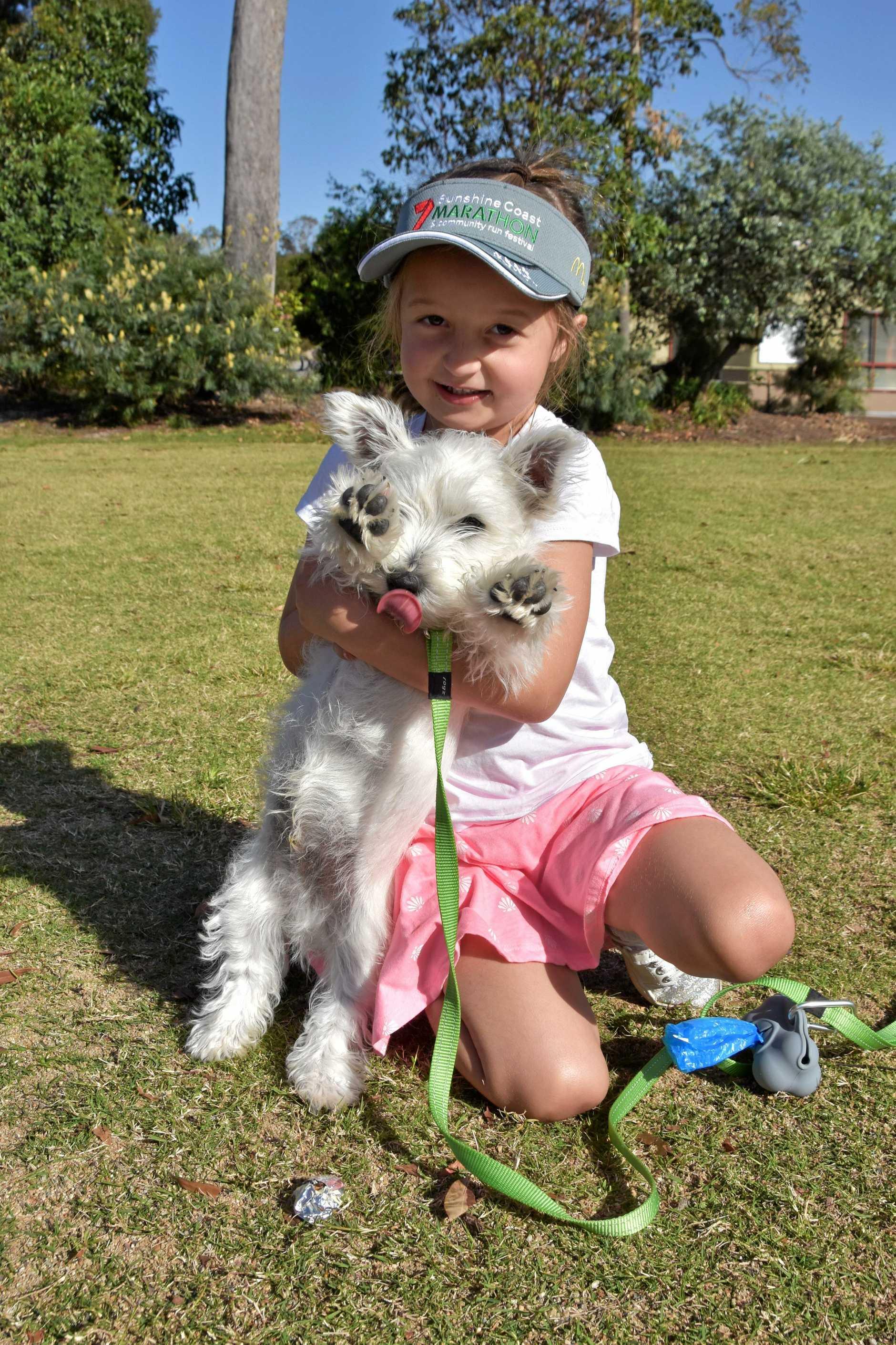 Jade Hammacott with Teddy the Western Terrier.