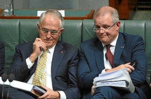 HAPPIER TIMES: Former Prime Minister Malcolm Turnbull with the then Treasurer Scott Morrison.