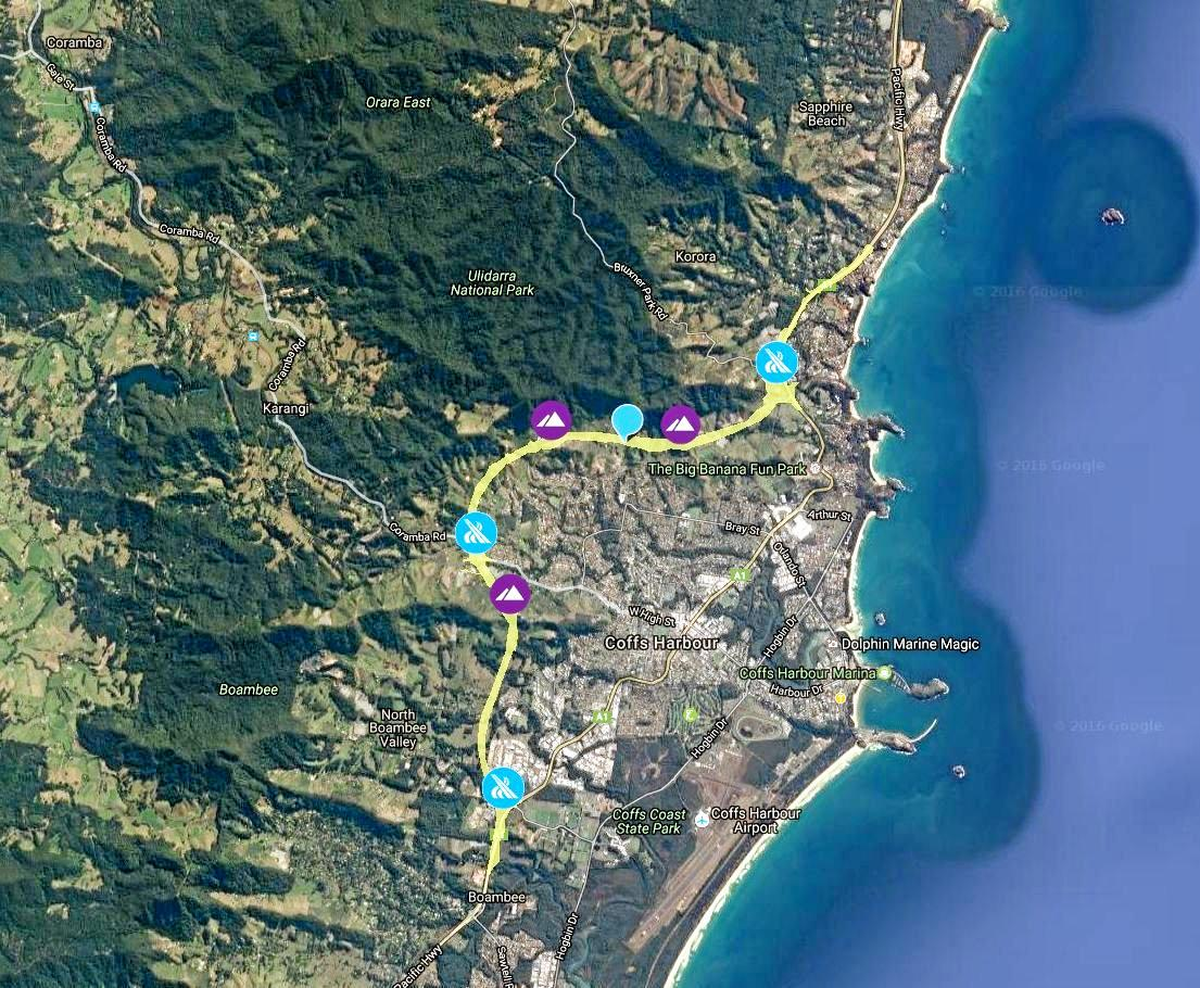 Roads and Maritime Services has released an interactive map showing the proposed route for the Coffs Harbour Pacific Hwy Bypass.