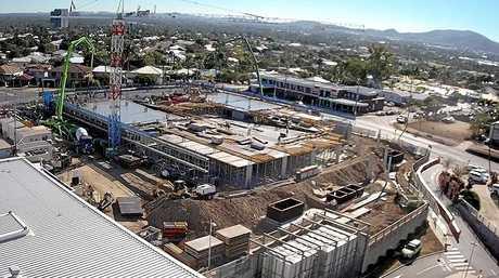 Progress shot of Rockhampton Hospital's multi-storey car park.