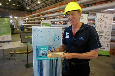 Top Drop... LSC Water Quality Officer Mike Dalton is all smiles after Livingstone Shire Council took out top place in the 2017 Ixom Best of the Best Queensland Water Taste Test as part of the Queensland Water Directorate's fourth Annual Forum
