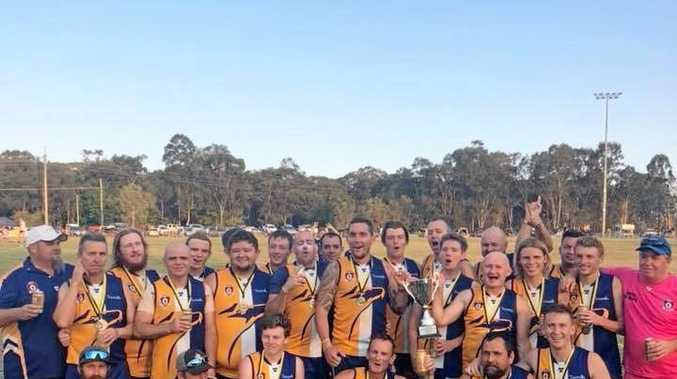CHAMPIONS: The successful The Waves reserves side that won the AFL Wide Bay grand final over Brothers Bulldogs on Saturday at Hervey Bay.