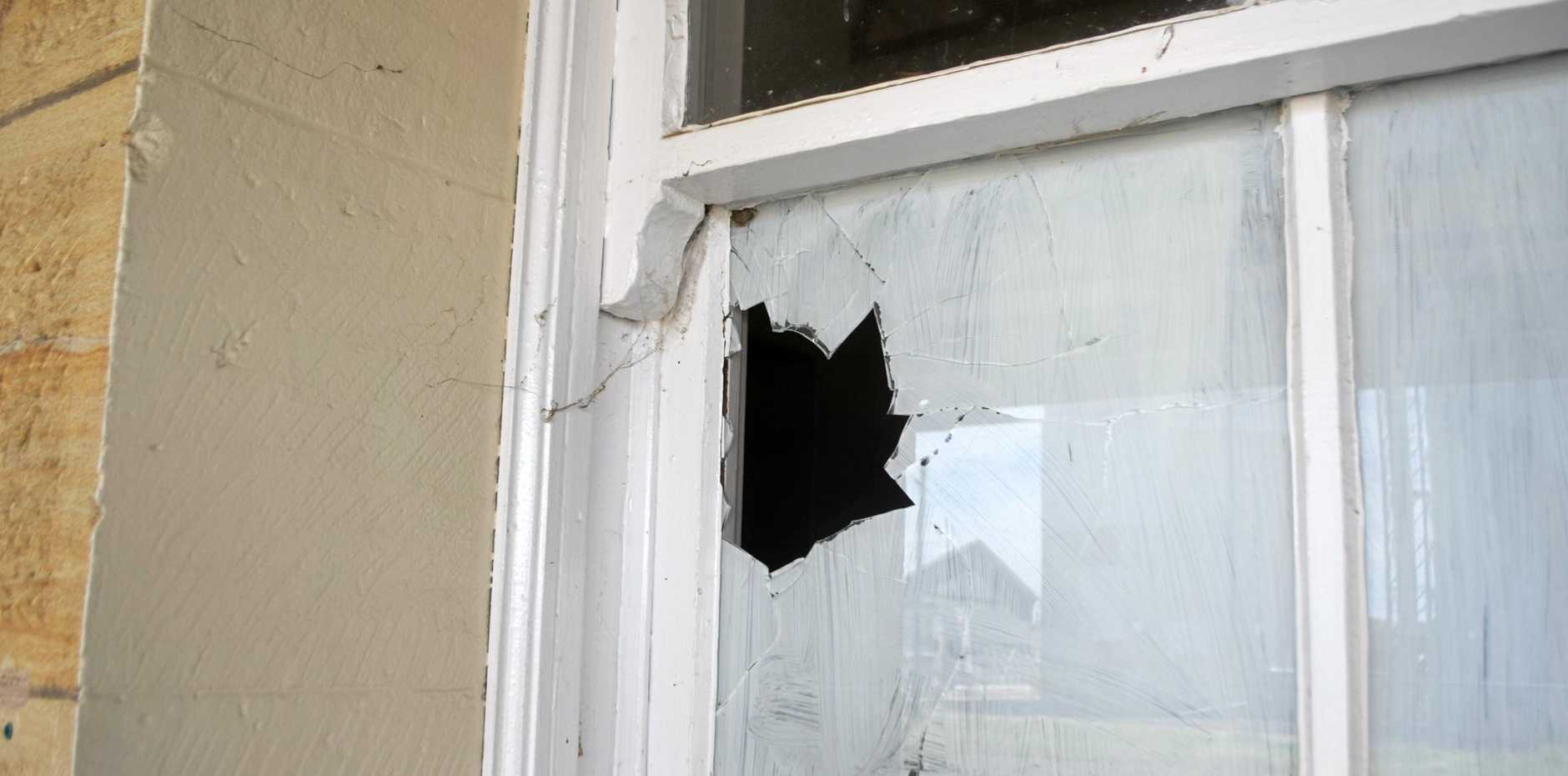 The Kingaroy man was required to pay for the two broken windows.