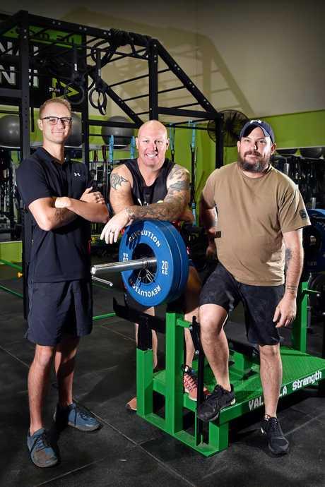 Brad Schafer, Darren Hayes and Daniel Ansett from Ply Fitness.