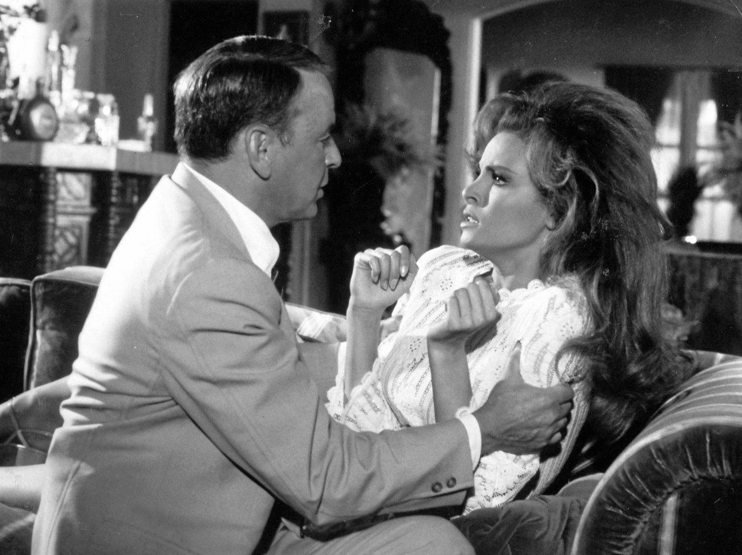 Frank Sinatra and Raquel Welch from the motion picture Lady in Cement.