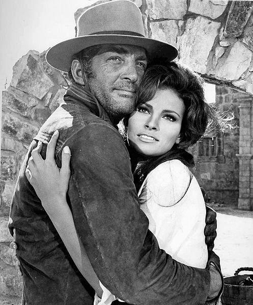 Dean Martin and Raquel Welch from the 1968 film Bandolero.