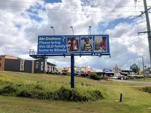 Biloela family supporters put billboard in Dutton electorate