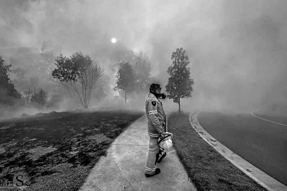 Firefighter at Collingwood Park.