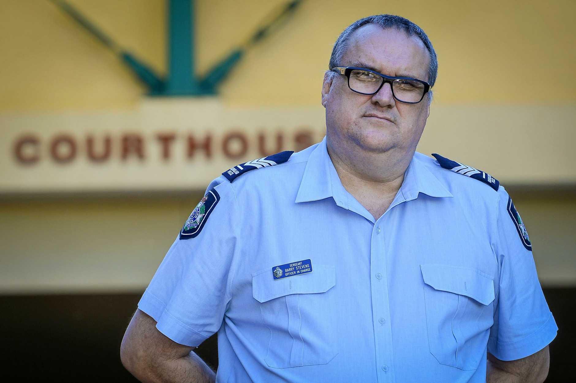 Police prosecutor Sergeant Barry Stevens.