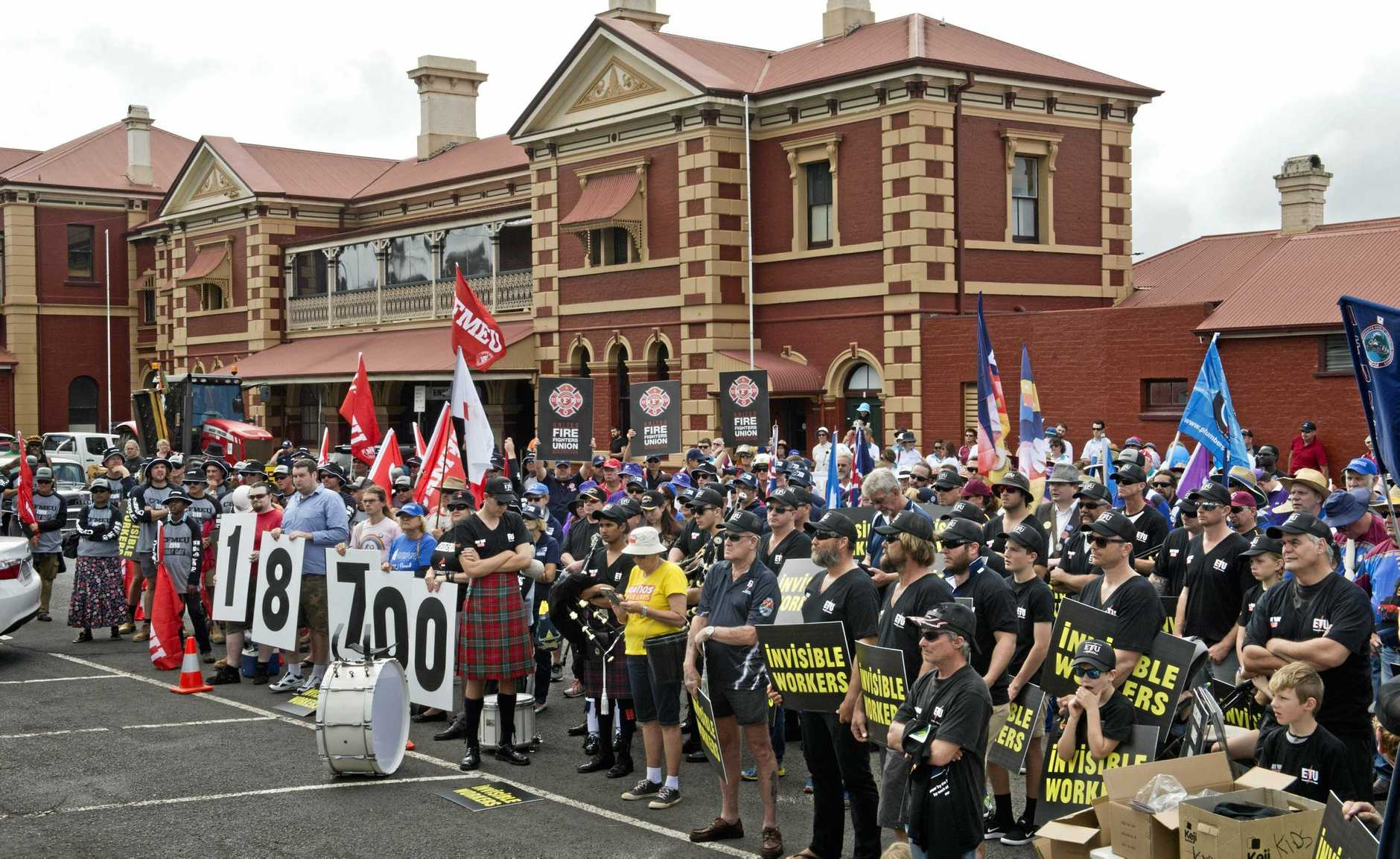 Labour Day march in Toowoomba.  Saturday 30 Apr , 2016.