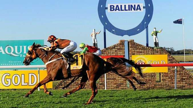 ABANDONED: Last year's Ballina Cup winner Cashed Up (pictured) was entered in the big race agin this year but the rain has forced organisers to call off the event.