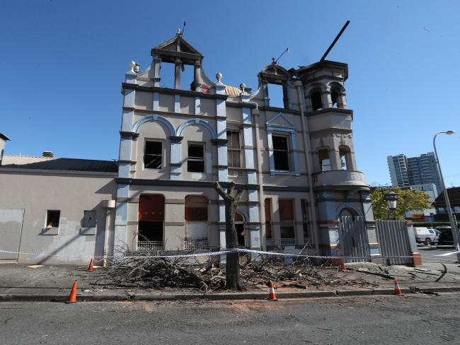 The Broadway Hotel after the latest blaze. Picture: Annette Dew