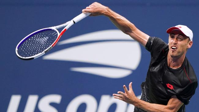 John Millman has claimed the biggest win of his career, downing Roger Federer in the round of 16 at the US Open.