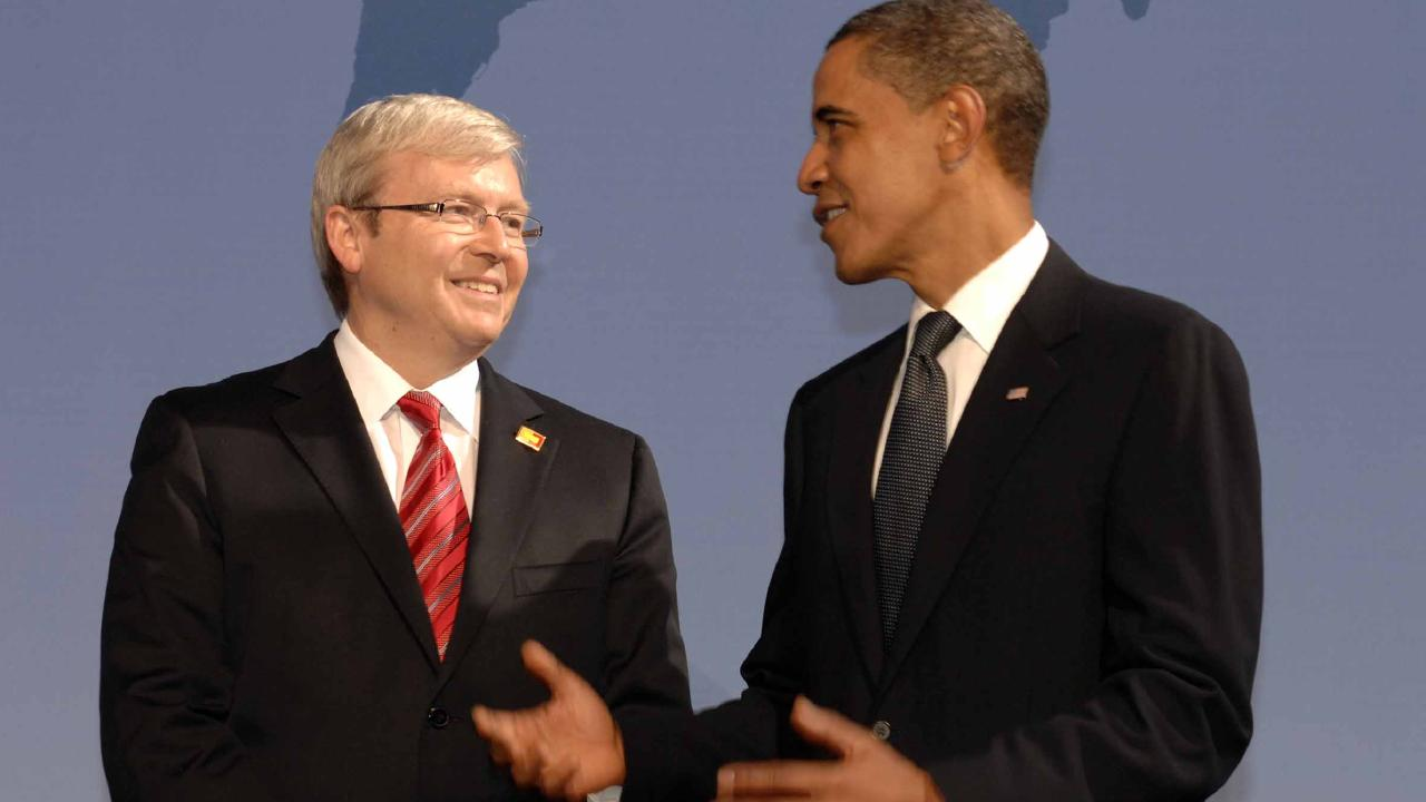 Mr Obama also enjoyed an amicable relationship with former Labor leader Kevin Rudd.