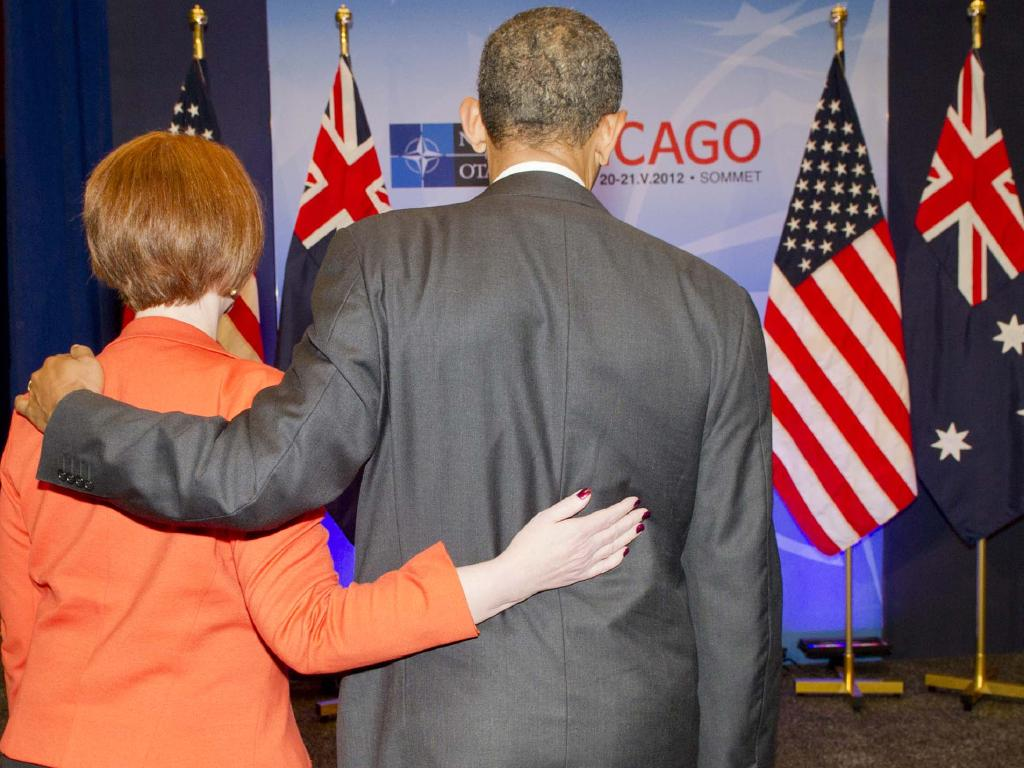Obama described Gillard as a 'quick study', praising her for getting her carbon price through Parliament.