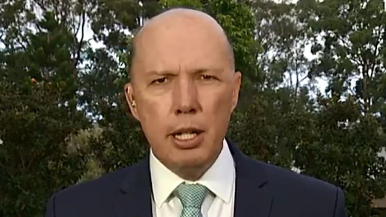 Peter Dutton has addressed an explosive dirt file threat he made to Labor MPs yesterday.