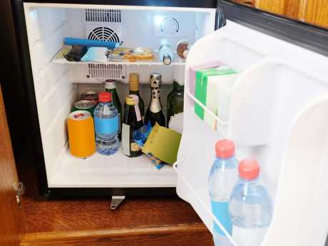 Clear before and after photos of the contents of the mini bar could save you for being slugged for things that weren't replaced before you checked in.