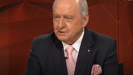 Alan Jones caused gasps in the audience.