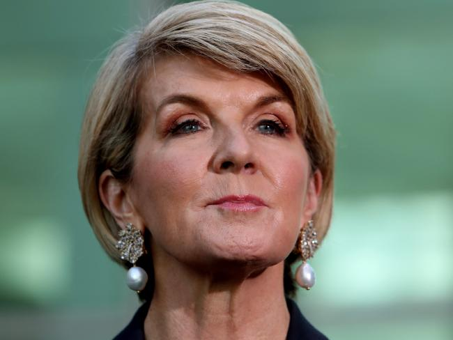 Julie Bishop was knocked out in the first round of the Liberal leadership ballot. Picture: Kym Smith