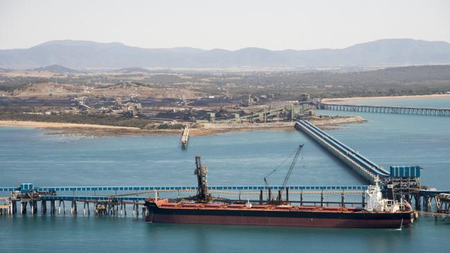 Coal ships queued up at Hay Point and Dalrymple Bay Coal loading facilities in Queensland. Picture: Daryl Wright