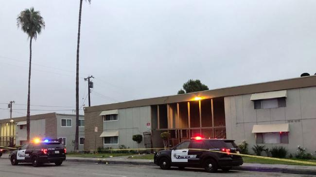 """A mass shooting broke out over a """"dice"""" game at an apartment complex in California. Picture: Twitter"""