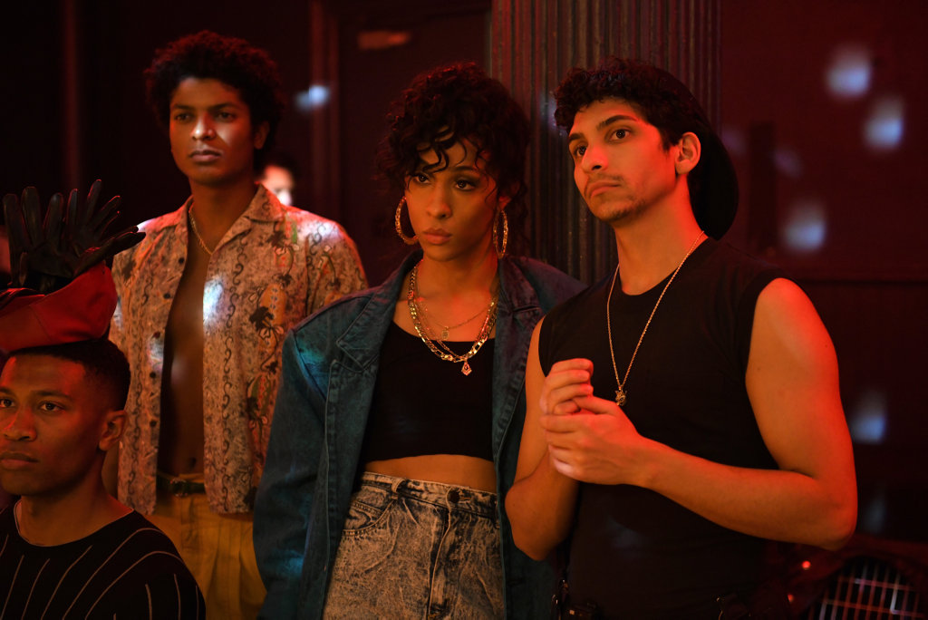 MJ Rodriguez and Angel Bismark Curiel in a scene from Pose.