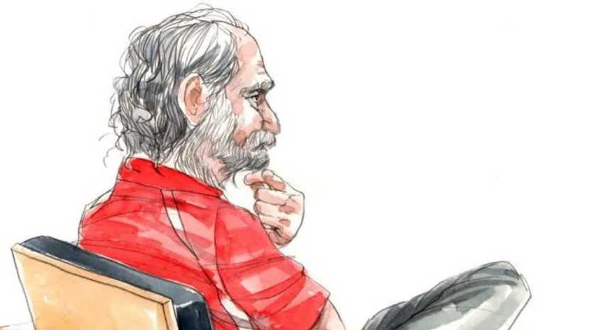 Courtroom sketch of Robert John Fardon