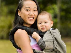 Strap on your baby or borrow one for some Kangatraining fun