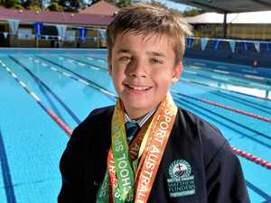 Swimming helps Callum muscle in on medals