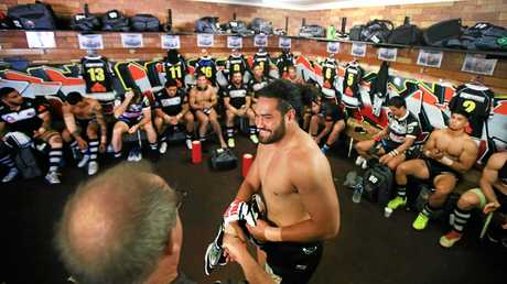 Konrad Hurrell was all smiles after the Seagulls' incredible round 10 victory against the Ipswich Jets.