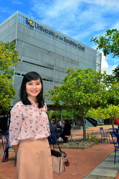 USC student Huyen Vo is from Vietnam and is studying for a Master of Social Work.