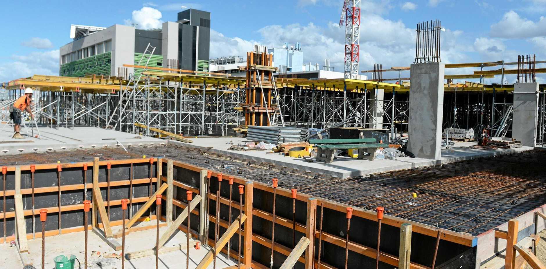 Rockhampton Hospital Carpark under construction.