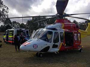 Young boy flown to hospital after being run over