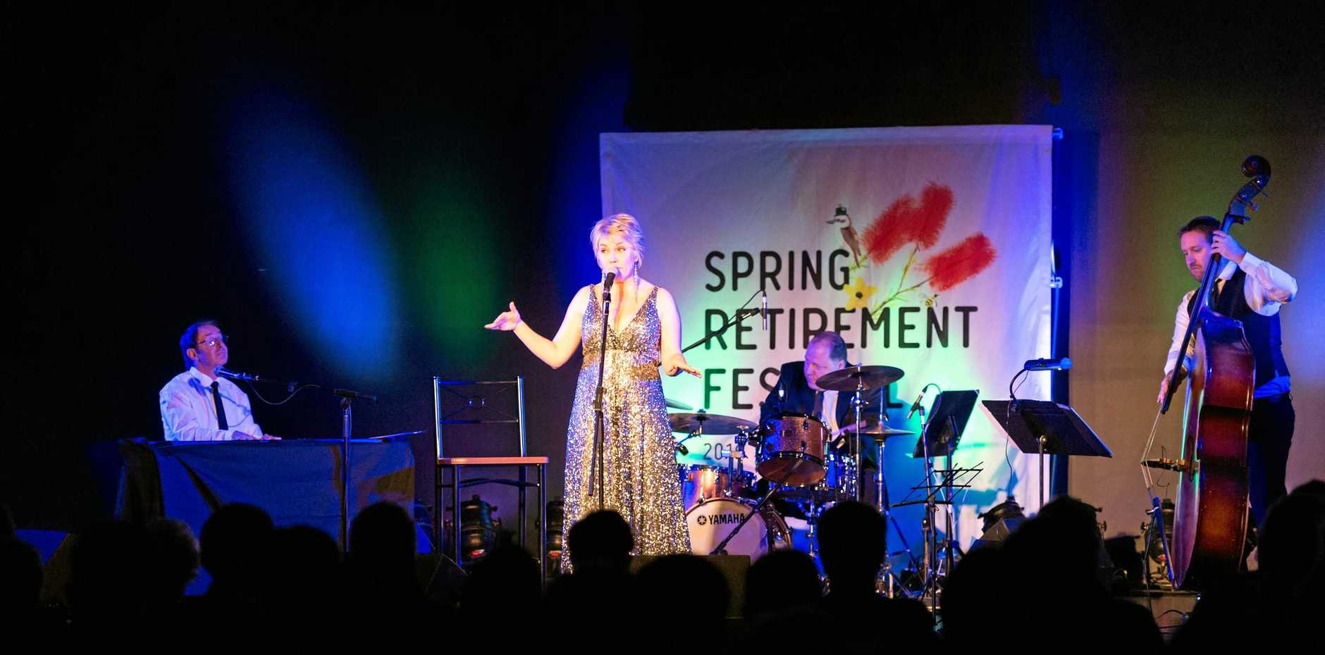 Melinda Schneider performs at a previous Lendlease Spring Retirement Festival.