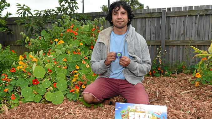 GARDEN FRESH: Local Chef Gustavo Perez with the My Little Seed Garden collection.