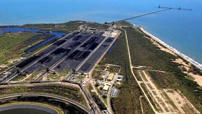 The Abbot Point coal port, near Bowen.