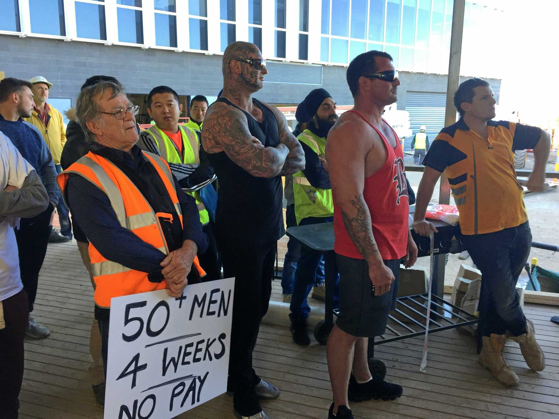 Sub contractors and their employees protesting at not being paid for the labour and material they supply has become an all-to-common occurrence on south east Queensland construction sites.