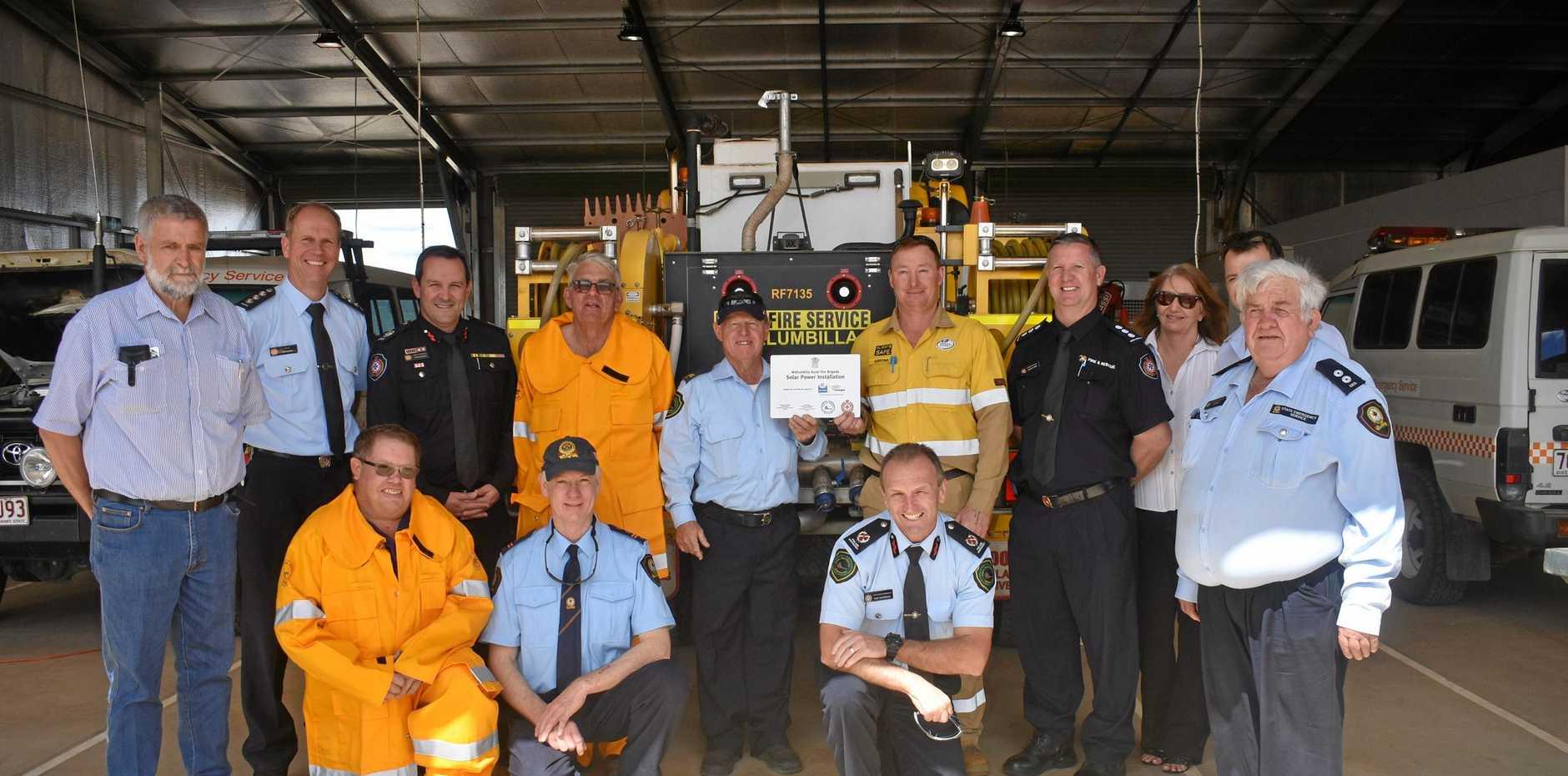 Wallumbilla Fire Station received new solar panels.