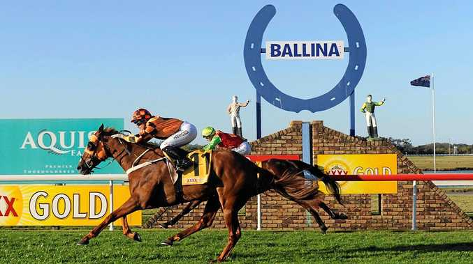 Brisbane jockey Tegan Harrison rode Cashed Up to a win in the $65,000 Ballina Cup.