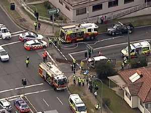 'Chaotic' scene after car T-bones school van