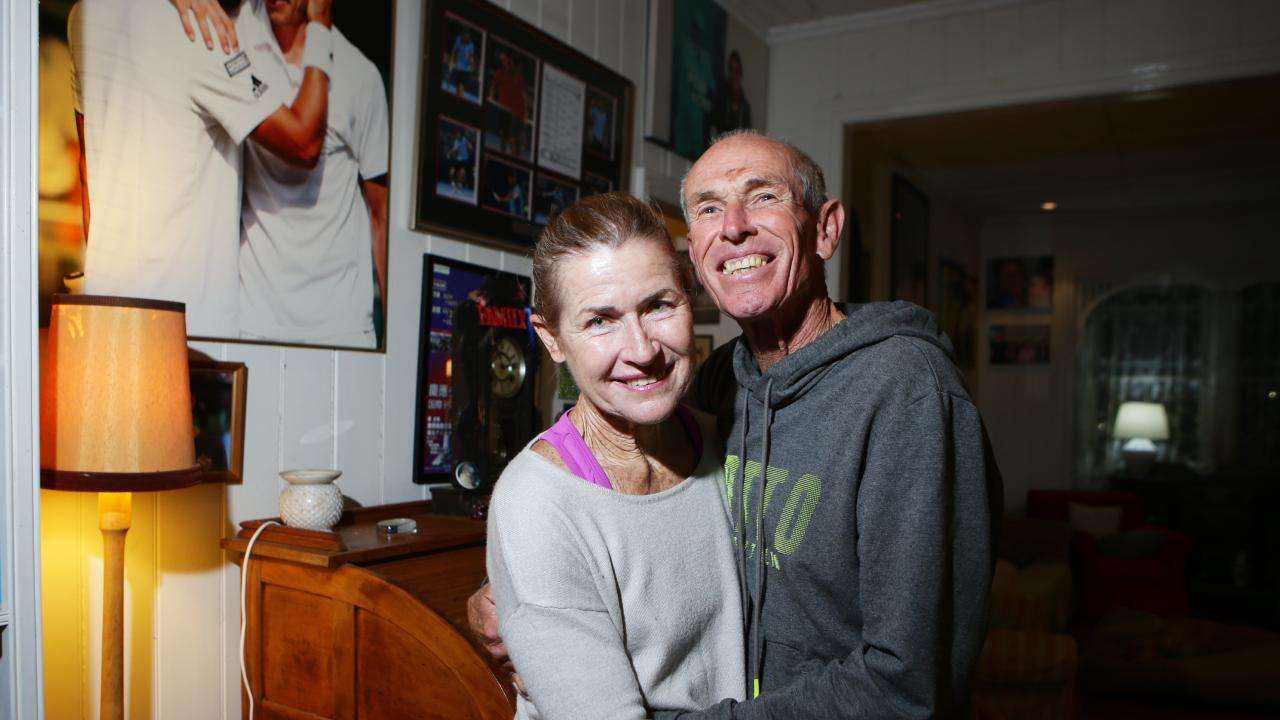 Ron and Shona Millman at their home at Norman Park home.                         Photo AAP/ Ric Frearson