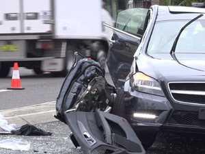 Police car crash leaves racing wife critical