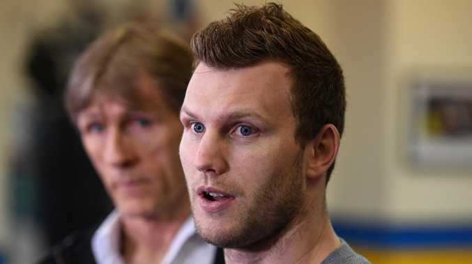Jeff Horn is confident he will take care of Anthony Mundine. Picture: AAP