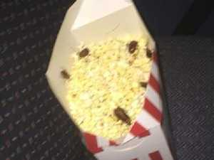 Cinema popcorn 'crawling with cockroaches'
