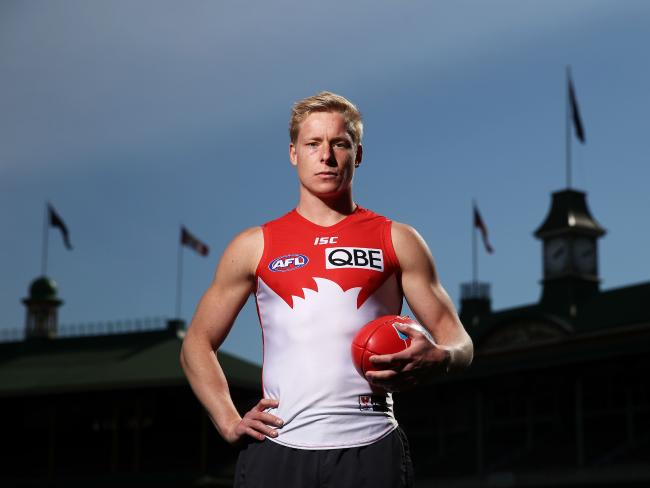Isaac Heeney cuts an imposing figure at the SCG. Picture: Getty Images