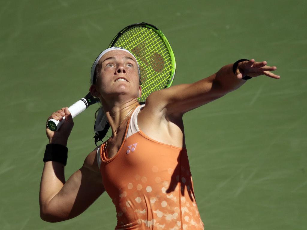 Anastasija Sevastova will now play either Serena Williams or 2016 U.S. Open runner-up Karolina Pliskova in her first Grand Slam semi-final. Picture: AP Photo