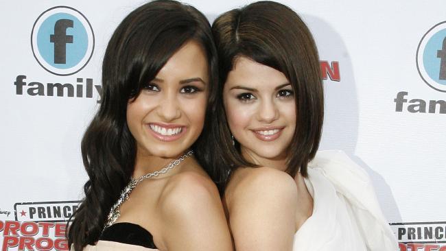 Demi Lovato and Selena Gomez. Picture: Splash
