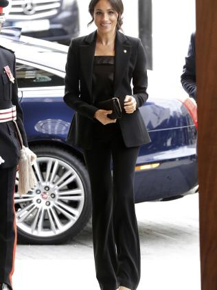 Meghan turned heads in this suited look. Picture: AP/Matt Dunham